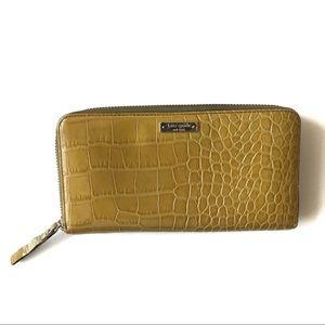 Kate Spade Croc Embossed Leather Wallet